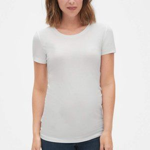 LOVE by GAP Maternity White Short Sleeve T-Shirt